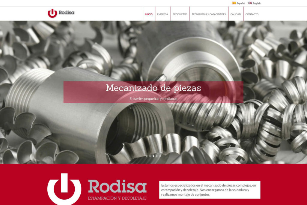 <span>www.rodisa.es</span> Web corporativa · Dos idiomas