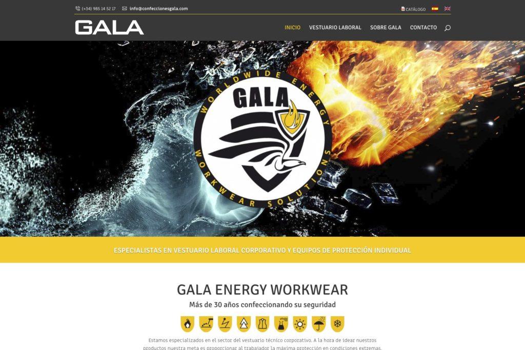 <span>www.confeccionesgala.com</span> Web Corporativa · Catálogo online · Dos idiomas