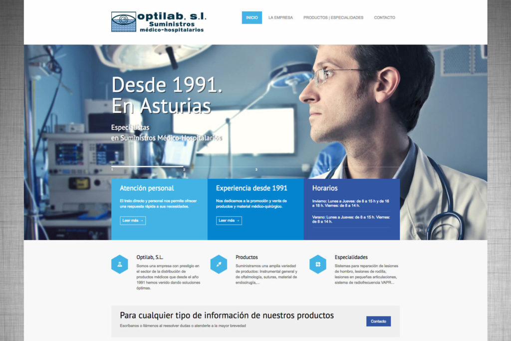 <span>www.optilabsl.com</span> Web corporativa
