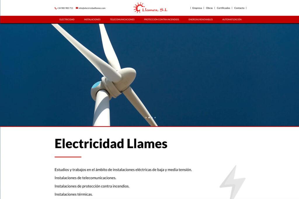 <span>www.electricidadllames.com</span> Web corporativa